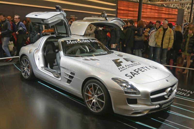Amtliches Auto der Sicherheits-F1 MERCEDES-BENZ SLS AMG lizenzfreies stockfoto