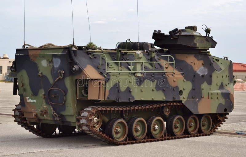 Amtrack переправочно-десантной машины морской пехот стоковое изображение