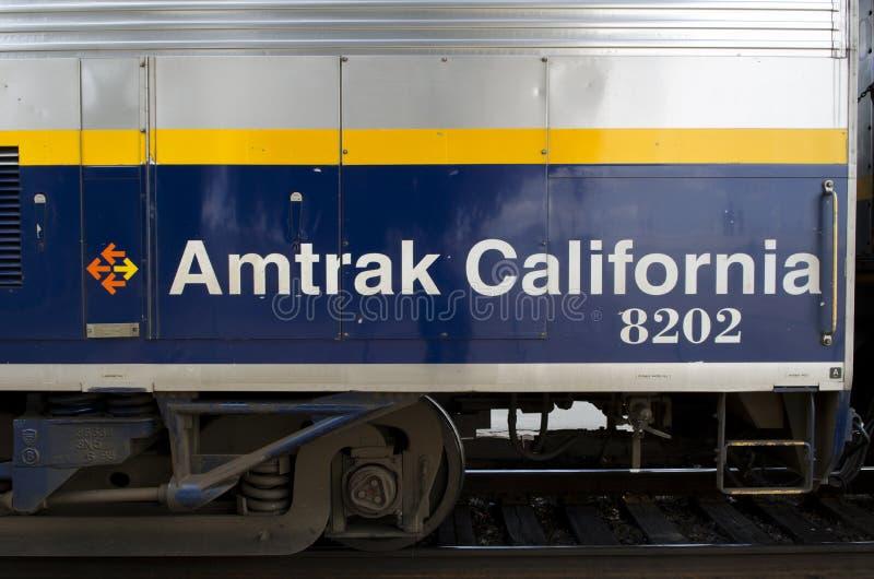 amtrak加利福尼亚培训 库存照片