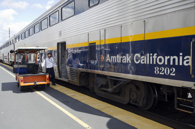 amtrak加利福尼亚培训 免版税库存照片