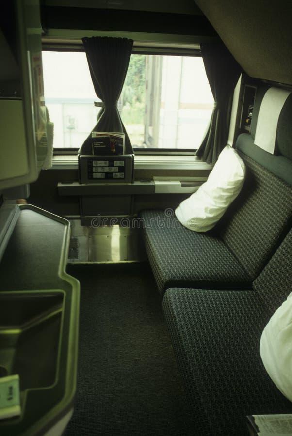 amtrak房舱首先培训 免版税库存照片
