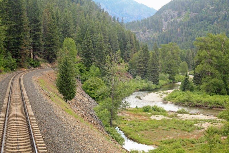 Amtrak através de Montana imagem de stock royalty free