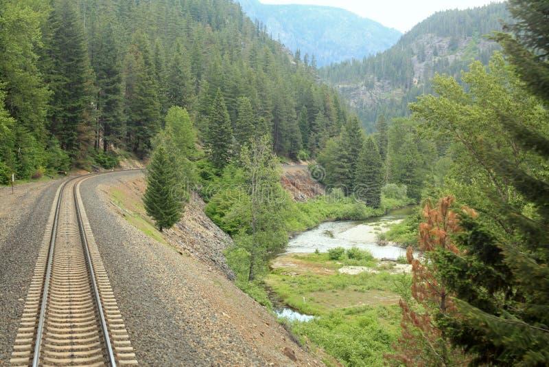 Amtrak através de Montana foto de stock