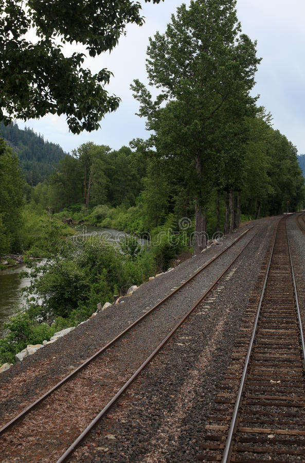 Amtrak através de Montana imagens de stock