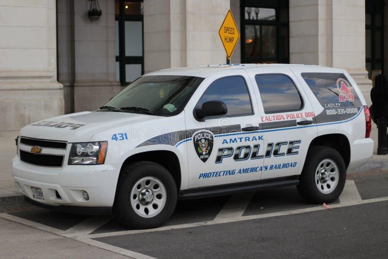 Amtrak Police K9 Unit Tahoe royalty free stock photo