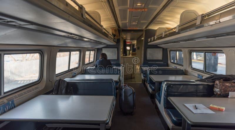 Amtrak que janta o carro foto de stock royalty free