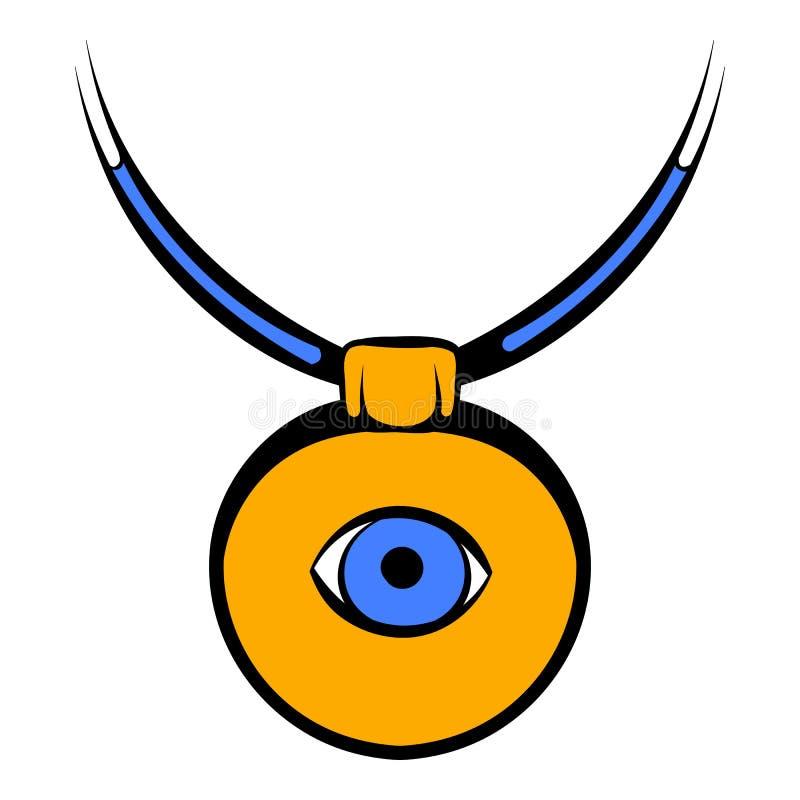 Amuleto contro l'icona del malocchio, fumetto dell'icona illustrazione di stock