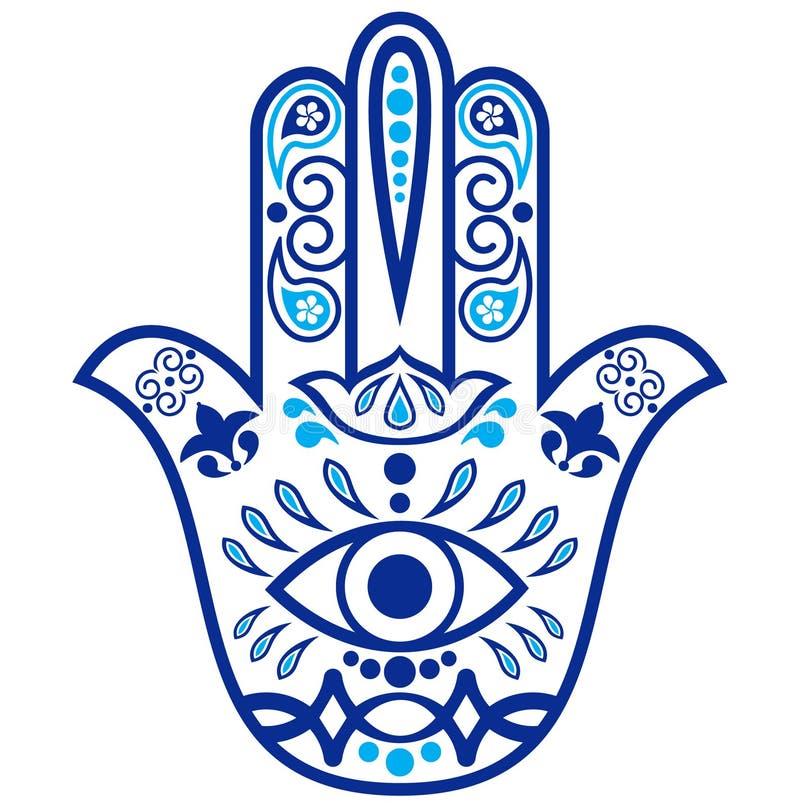 Amuleto de Hamsa ilustração do vetor