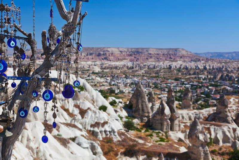 Amulett des Baums und des schlechten Auges in Cappadocia die Türkei stockbilder