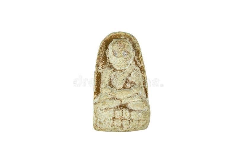 Amulett för lera för meditationBuddhastaty royaltyfria bilder