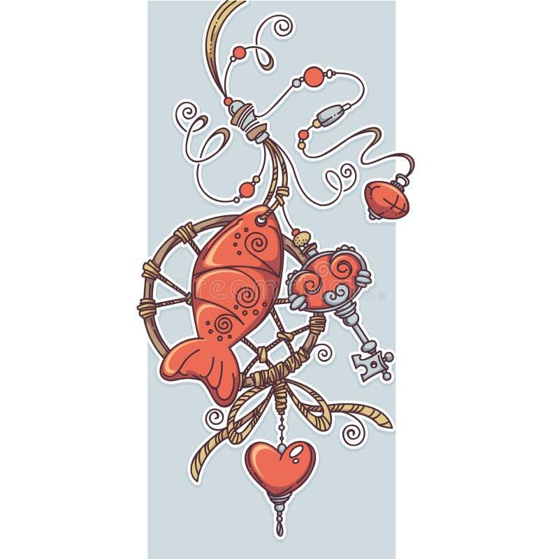 Amulette chic de Boho illustration de vecteur