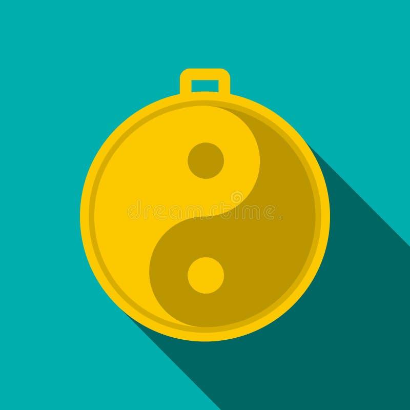 Amulette d'icône de yang de yin illustration libre de droits