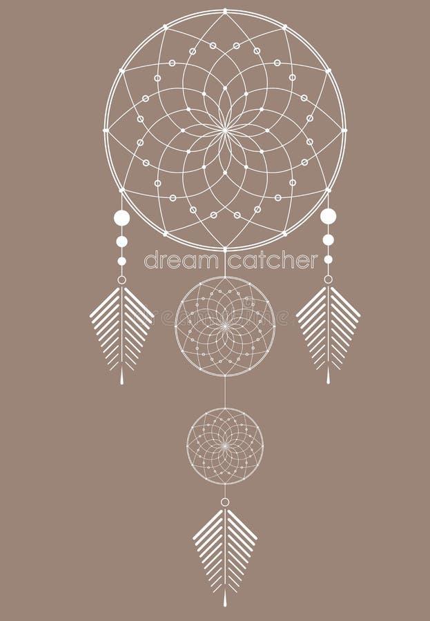 Amulette du Dreamcatcher illustration de vecteur
