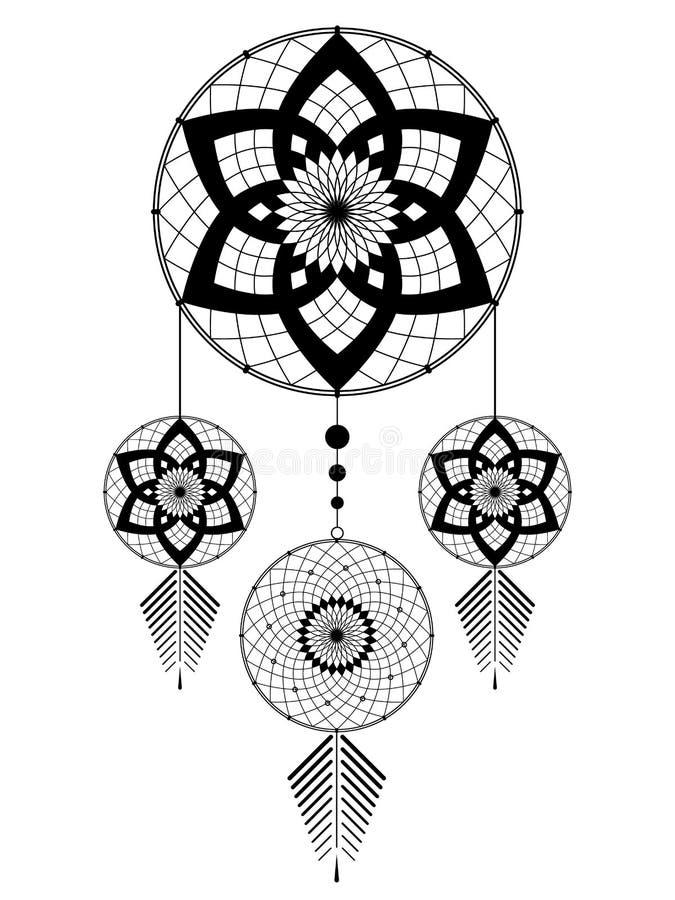Amulette du Dreamcatcher illustration libre de droits