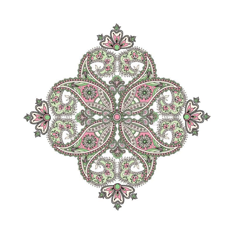 Amulette ethnique orientale Abstra de mandala de fond arabe d'ornement illustration stock