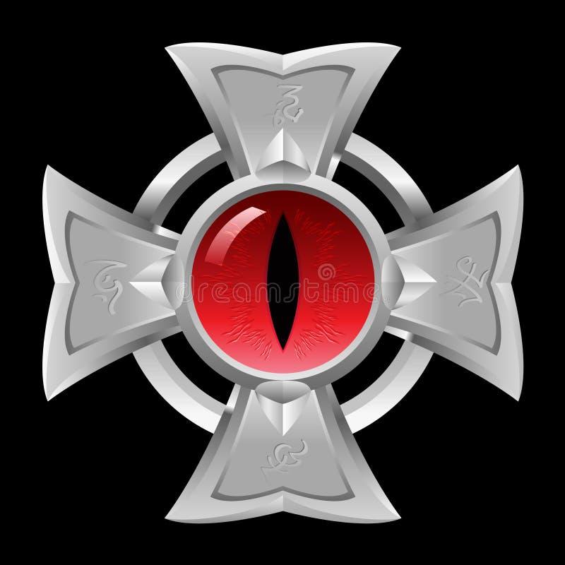 Amulette. Oeil de dragon. illustration libre de droits