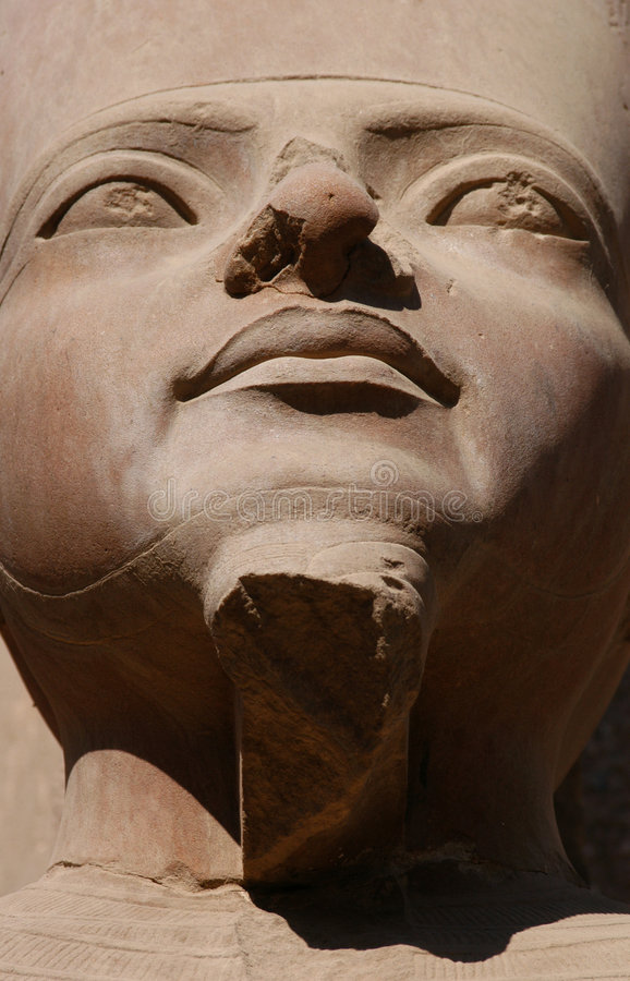 Amun Re. A statue of Amun Re in the Temple of Amun in Karnak near Luxor (Thebes), Egypt royalty free stock photography