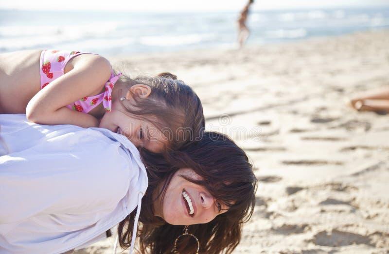 Amusement à la plage photo libre de droits