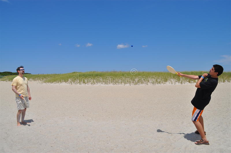 Amusement à la plage photos stock
