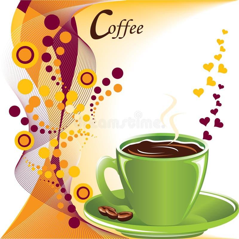 Amusement avec du café illustration stock