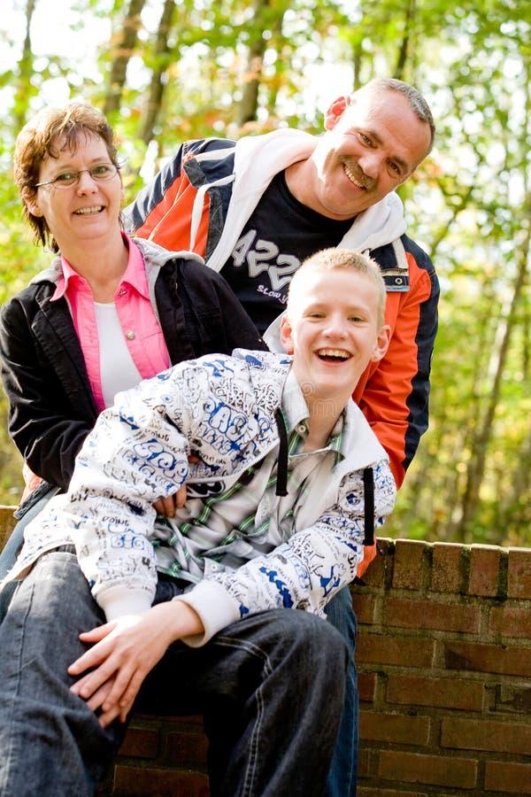 Amusement avec la famille photo stock