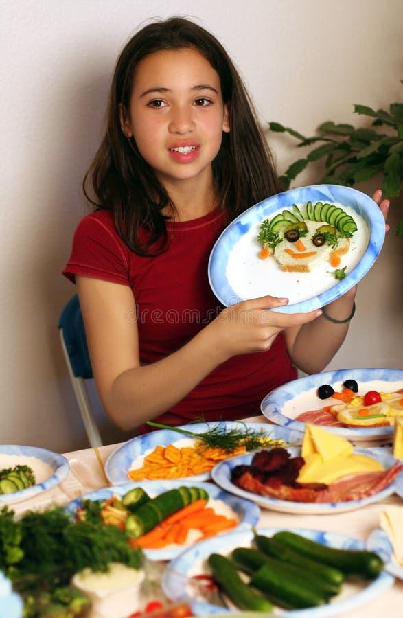 Amusement avec la nourriture photo stock