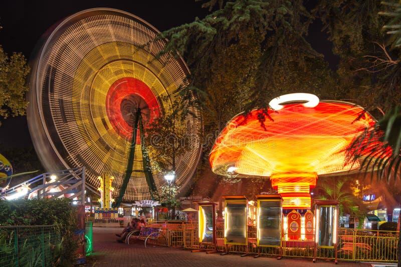 amusement carousel park Sochi arkivbild