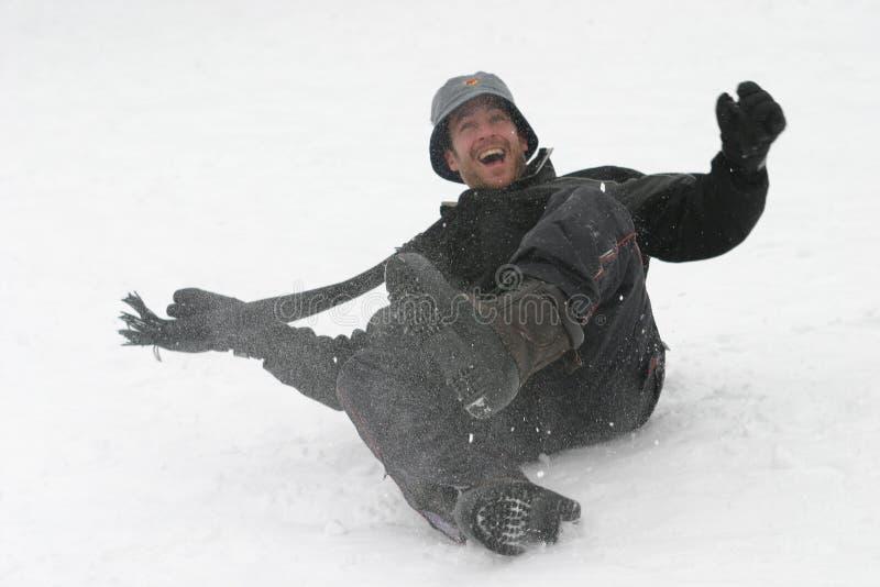 Amusement dans la neige image libre de droits