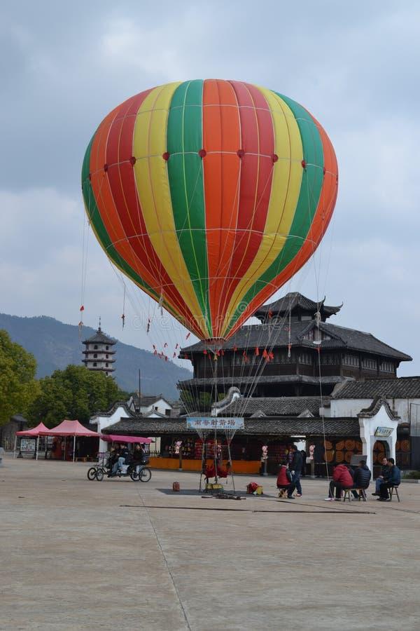 Amusement dans le baloon à air chaud photographie stock