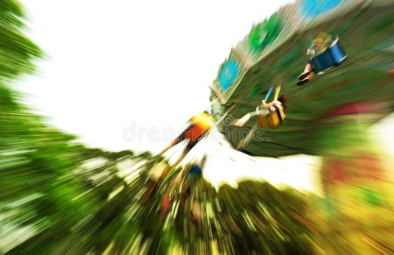 Amusement dans le parc à thème photographie stock libre de droits