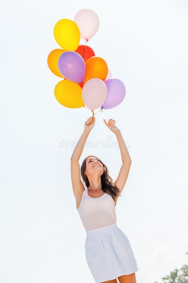 Download Amusement de ballon photo stock. Image du féminité, multi - 45354730
