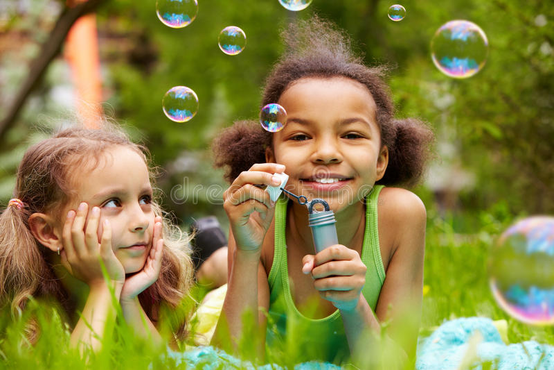 Amusement de bulle photo libre de droits