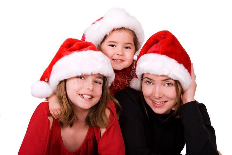 Amusement de famille de Noël. photographie stock