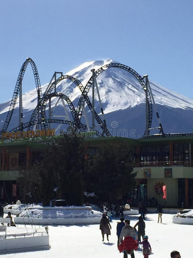 amusement de Fuji-San images libres de droits