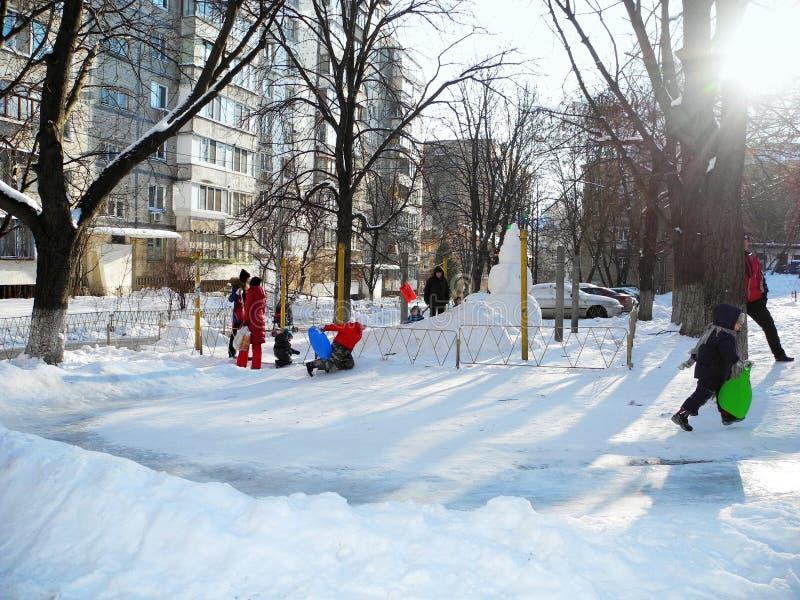Amusement de l'hiver image libre de droits