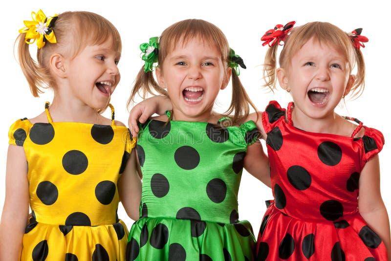 Amusement de point de polka photographie stock