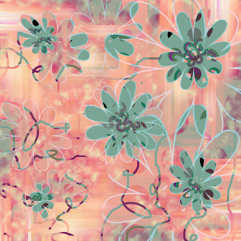 Amusement et fond floral génial illustration libre de droits