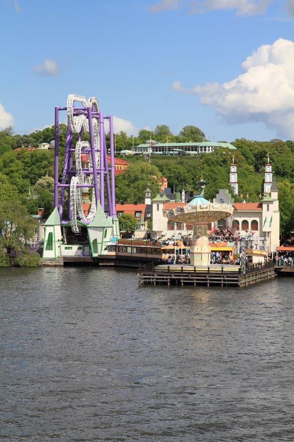 Amusement park stock photos