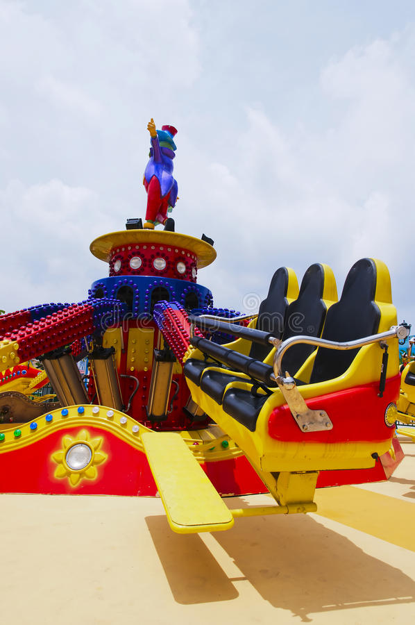 Download Amusement park stock image. Image of chairs, game, yellow - 25163071