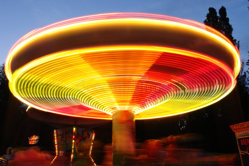 Download Amusement park, attraction stock photo. Image of night - 4352284