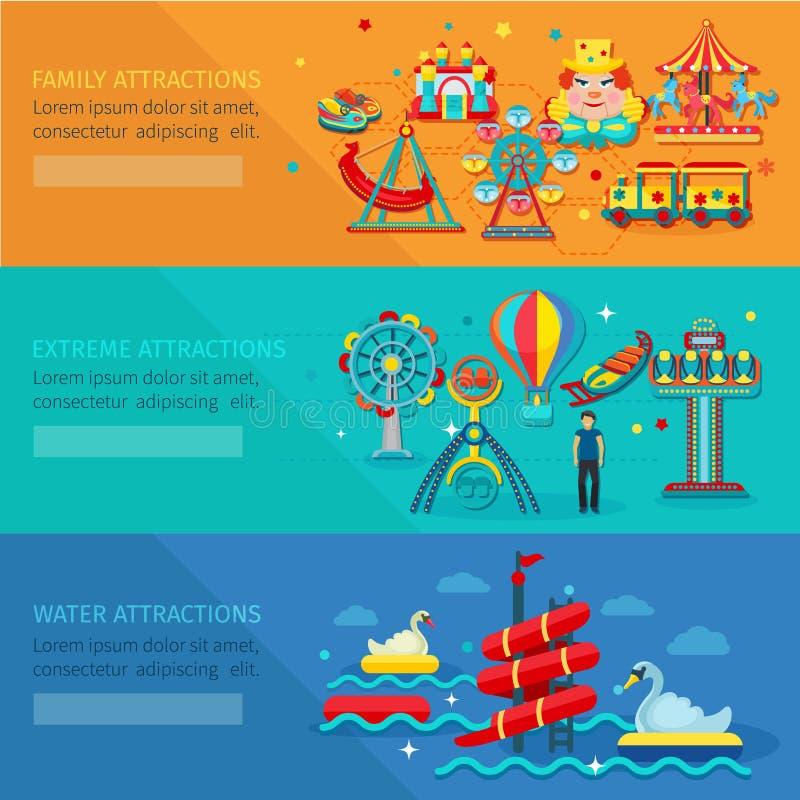 Amusement Park Banner royalty free illustration