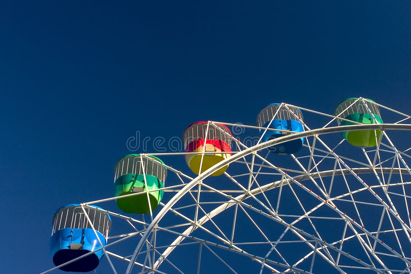 Amusement Park: Colorful Wheel royalty free stock photography