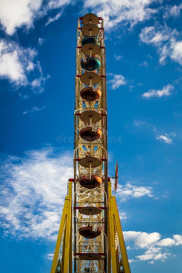 Amusement Park With Ferris Wheel Stock Photo - Image of ...