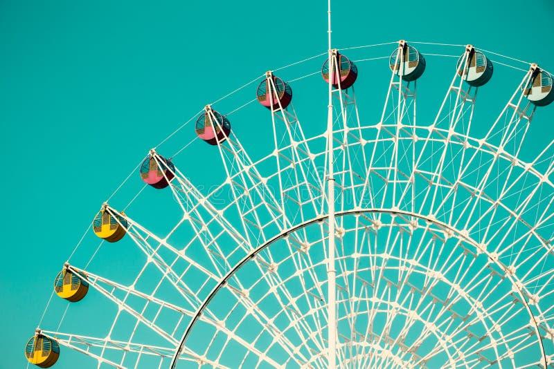 Amusement park ferris wheel stock image