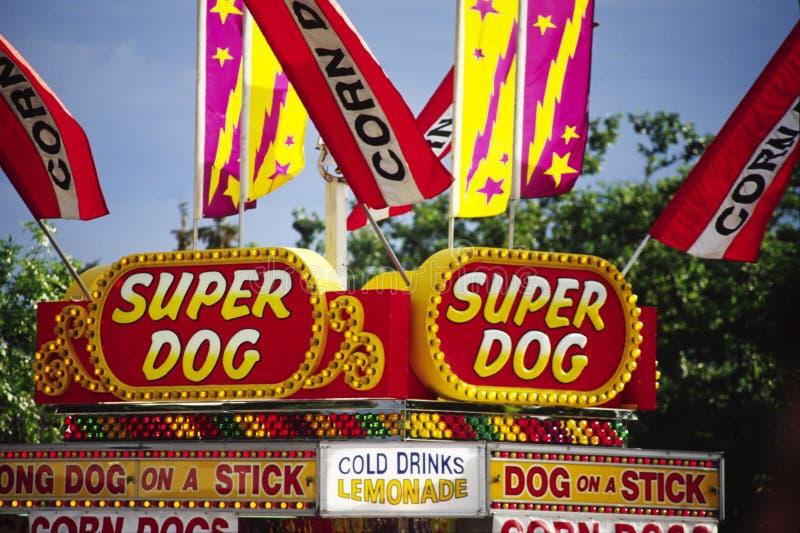 Amusement Park Food Signs royalty free stock photos