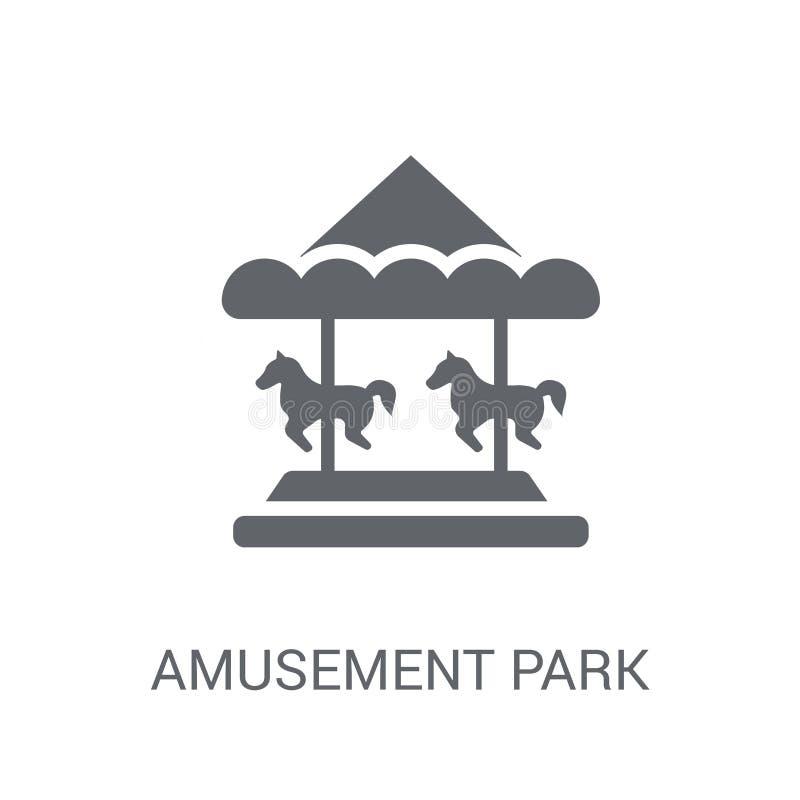 Amusement park icon. Trendy Amusement park logo concept on white royalty free illustration