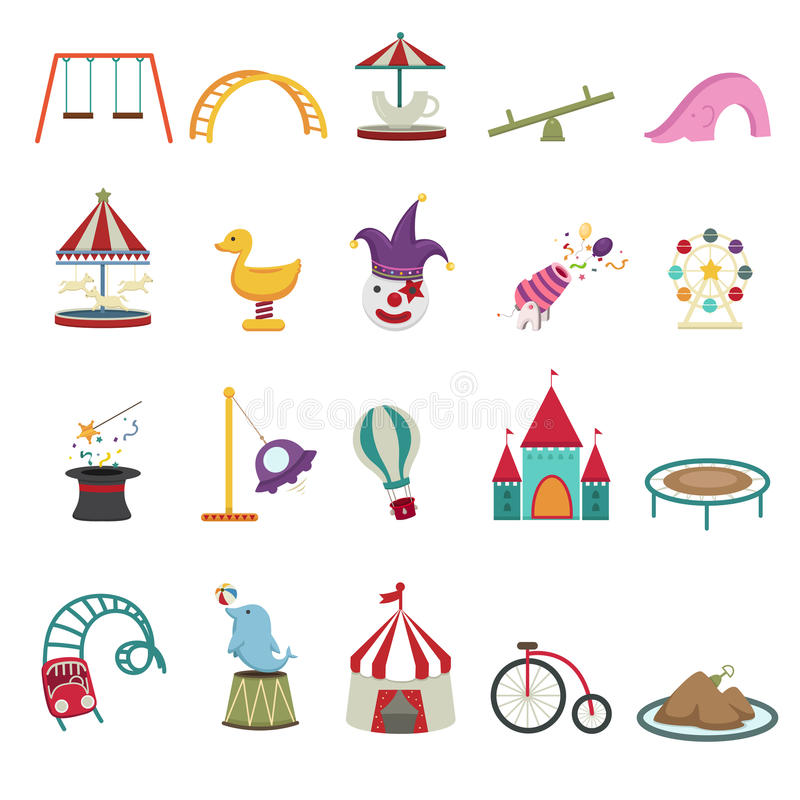 Download Amusement park icons stock vector. Illustration of preschool - 37994519