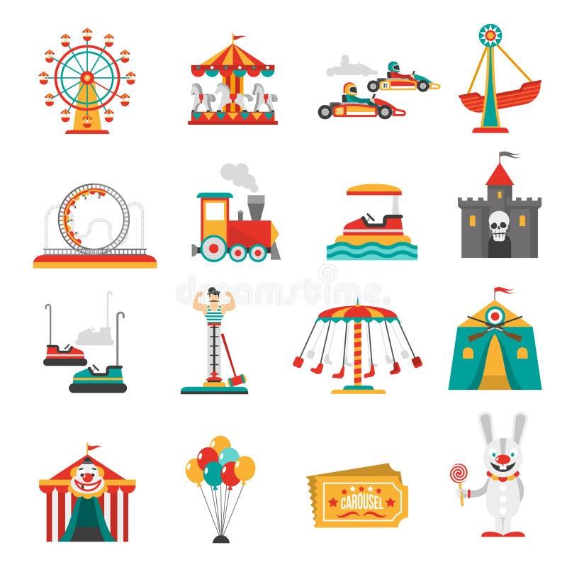 Amusement Park Icons royalty free illustration