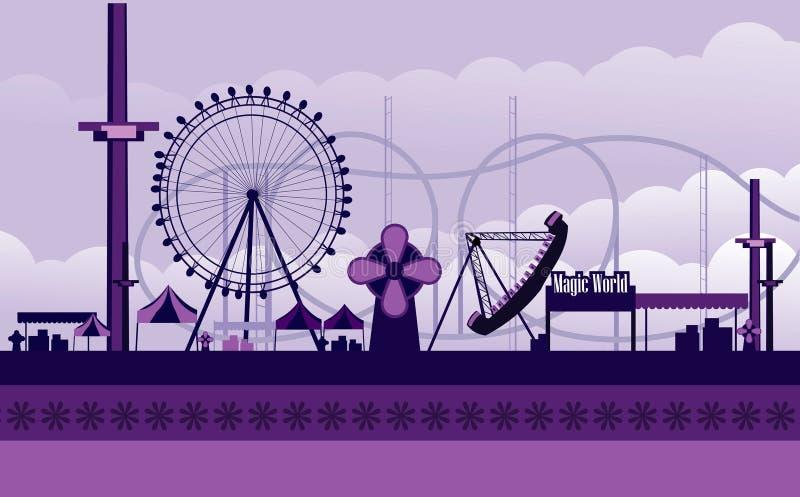 Amusement park illustration vector illustration
