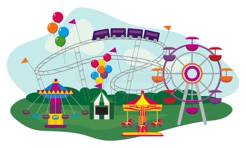 Download Amusement Park stock vector. Illustration of leisure - 33728953